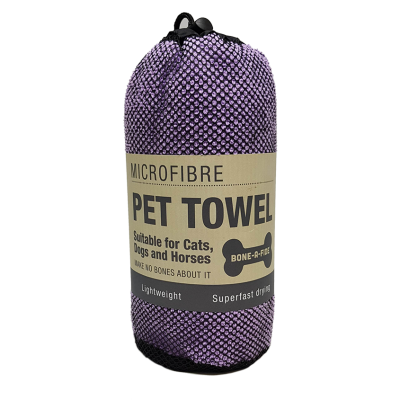 Microfibre Pet Towel - Purple