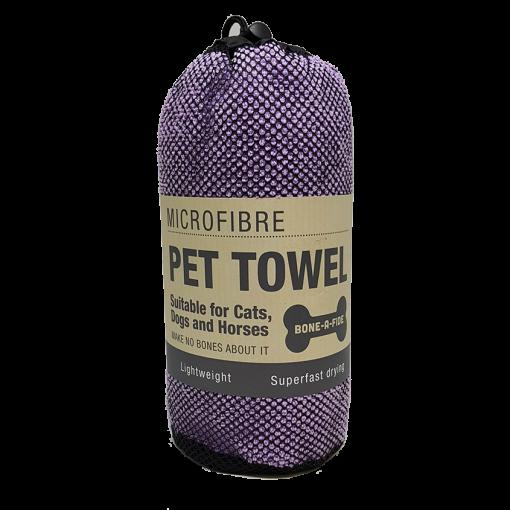 Microfibre Pet Towel - Purple